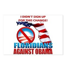 Floridians Against Obama Postcards (Package of 8)