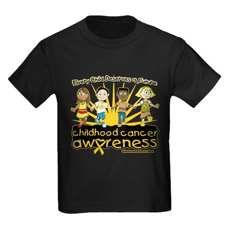 EveryChild CancerRibbon Kids Dark T-Shirt