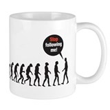 Evolution Stop Following Me Mug
