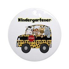 Zoo Animals Kindergarten Ornament (Round)