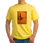 Liberty Shall Not Perish (Front) Yellow T-Shirt