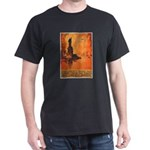 Liberty Shall Not Perish (Front) Black T-Shirt