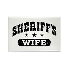 Sheriff's Wife Rectangle Magnet