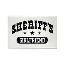 Sheriff's Girlfriend Rectangle Magnet