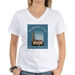 Norwalk Blvd Drive-In Theatre Women's V-Neck T-Shi