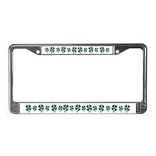 Field of Shamrocks License Plate Frame