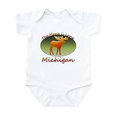Cute Upper peninsula Infant Bodysuit
