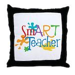 SmART Art Teacher Throw Pillow