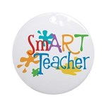 SmART Art Teacher Ornament (Round)