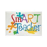 SmART Art Teacher Rectangle Magnet (100 pack)