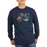 SmART Art Teacher Long Sleeve Dark T-Shirt