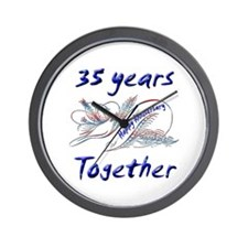Thirty fifth anniversary Wall Clock