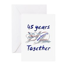 Wedding anniversary favors Greeting Cards (Pk of 10)