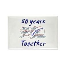 Cute 50th Rectangle Magnet (10 pack)
