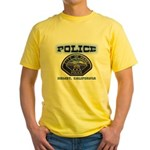 Hemet California Police Yellow T-Shirt