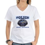 Hemet California Police Women's V-Neck T-Shirt