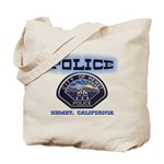 Hemet California Police Tote Bag