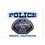 Hemet California Police Postcards (Package of 8)
