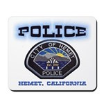 Hemet California Police Mousepad