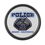 Hemet California Police Large Wall Clock