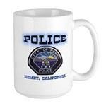 Hemet California Police Large Mug