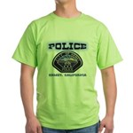 Hemet California Police Green T-Shirt
