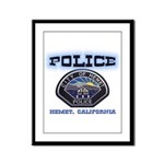 Hemet California Police Framed Panel Print