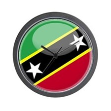 St. Kitts / Nevis Wall Clock