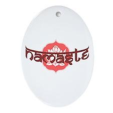 Namaste Lotus Ornament (Oval)