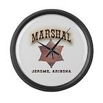 Jerome Arizona Marshal Large Wall Clock