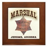 Jerome Arizona Marshal Framed Tile