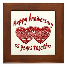 Unique 35th wedding anniversary Framed Tile