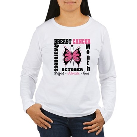 Breast Cancer Month Women's Long Sleeve T-Shirt