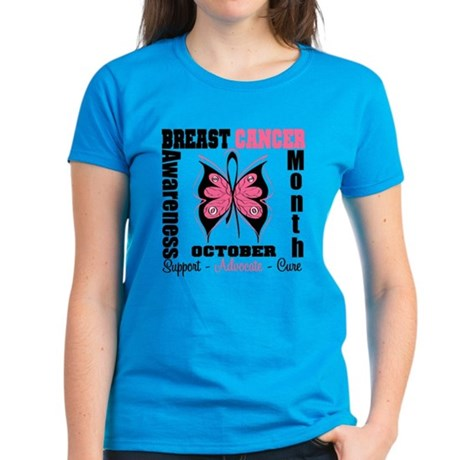 Breast Cancer Month Women's Dark T-Shirt