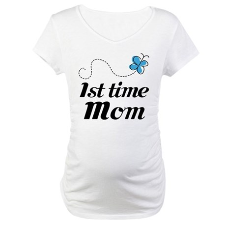 Pretty 1st Time Mom Maternity T-Shirt