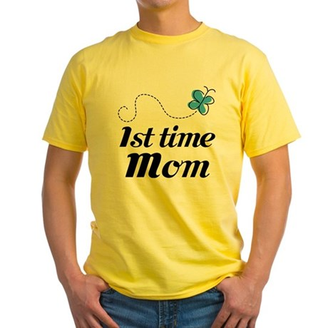 Pretty 1st Time Mom Yellow T-Shirt