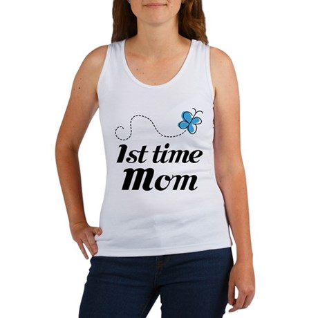 Pretty 1st Time Mom Women's Tank Top