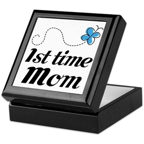 Pretty 1st Time Mom Keepsake Box