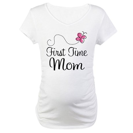 Fun 1st Time Mom Maternity T-Shirt