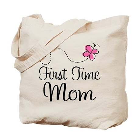 Fun 1st Time Mom Tote Bag