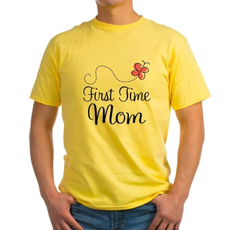 Fun 1st Time Mom Yellow T-Shirt
