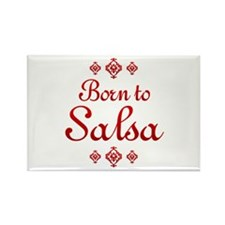 Salsa Rectangle Magnet
