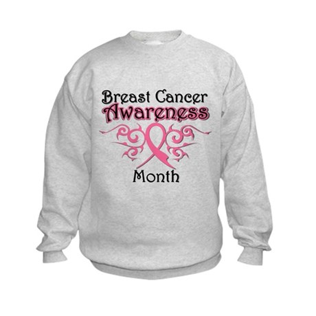 Breast Cancer Awareness Month Kids Sweatshirt