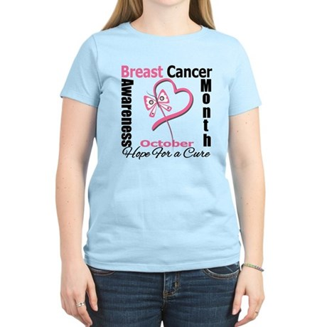 Breast Cancer Month Heart But Women's Light T-Shir