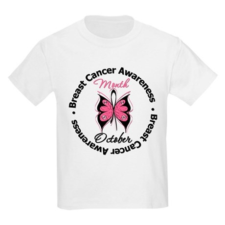 Butterfly Breast Cancer Kids Light T-Shirt
