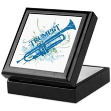Cool Grunge Trumpet Keepsake Box