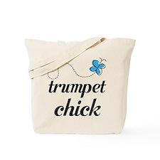 Cute Trumpet Chick Tote Bag
