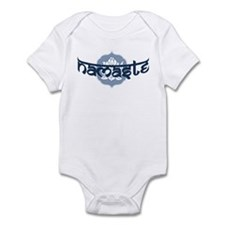 Namaste Lotus - Blue Infant Bodysuit