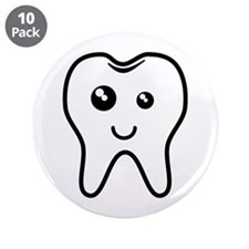 "The Tooth 3.5"" Button (10 pack)"