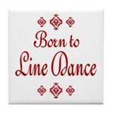 Line Dance Tile Coaster